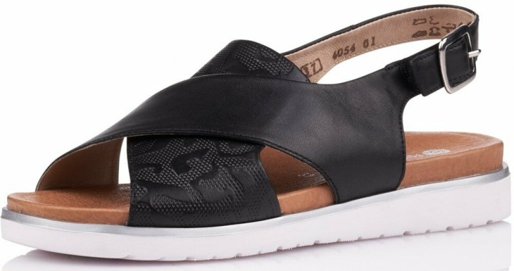 Remonte Damen Sandale Schwarz Schuhe Leder D4054-01