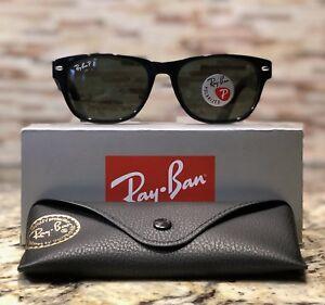 3207fae181b Ray Ban New Wayfarer Polarized Sunglasses RB2132 901 58 52mm Black ...