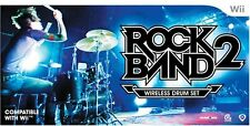 NEW Nintendo Wii Rock Band 2 Wireless Drum Kit RockBand Drums Set RARE