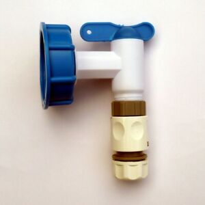 IBC-Adapter-S60X6-to-Water-Butt-Tap-c-w-Snap-On-Hose-Connector