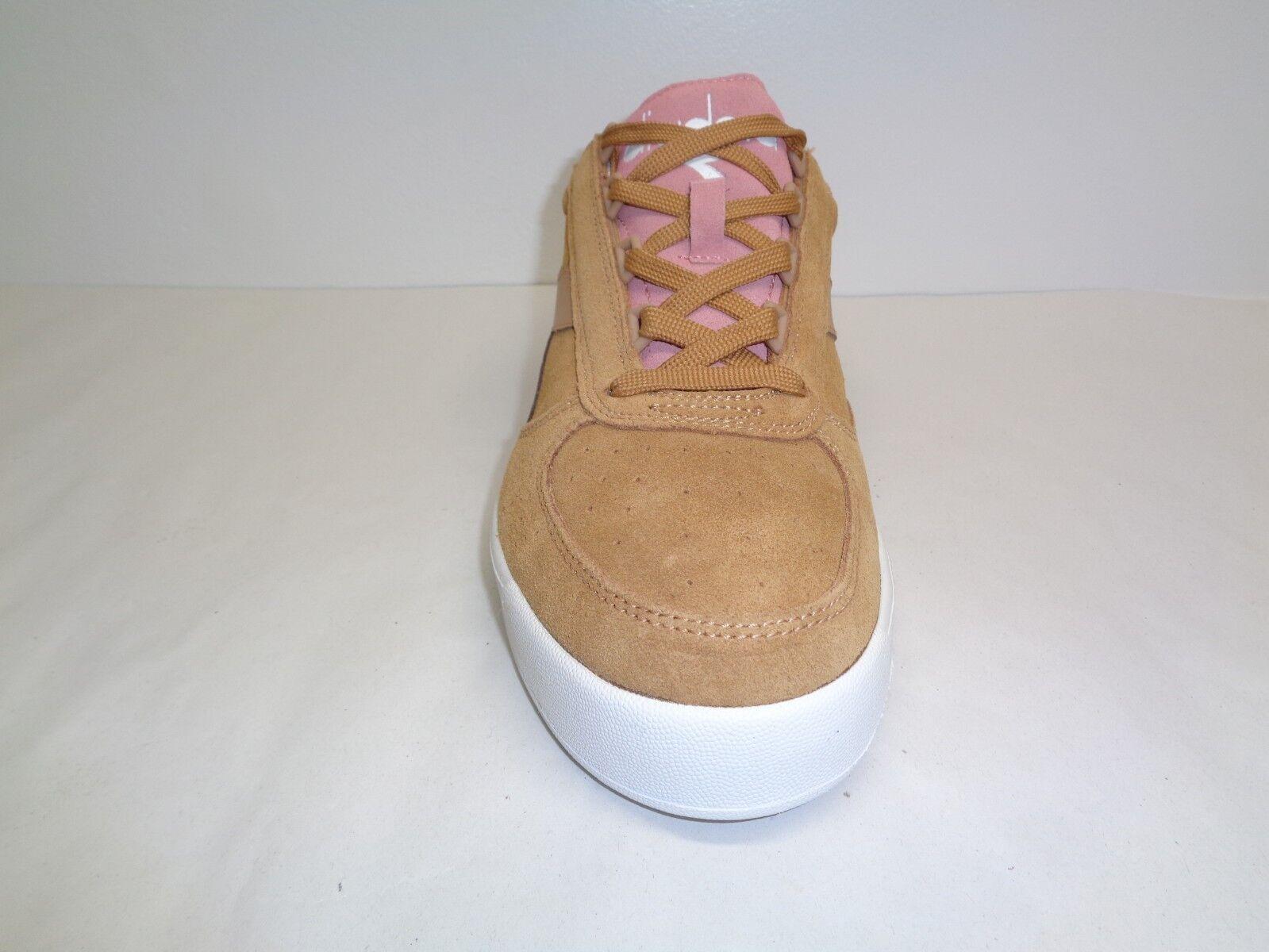 Diadora Tamaño 11.5 M B. ELITE DoE Gamuza Marrón Melocotón Melocotón Marrón Perla Zapatillas nuevo Zapatos para hombre 47b7d9