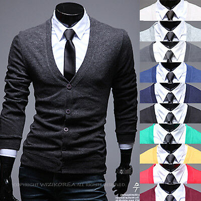 Mens Luxury Coloration Shawl Knit Cardigan Sweater Jumper Top