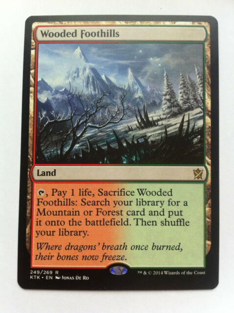Wooded Foothills, Khans of Tarkir, Magic MTG CARD (englisch)