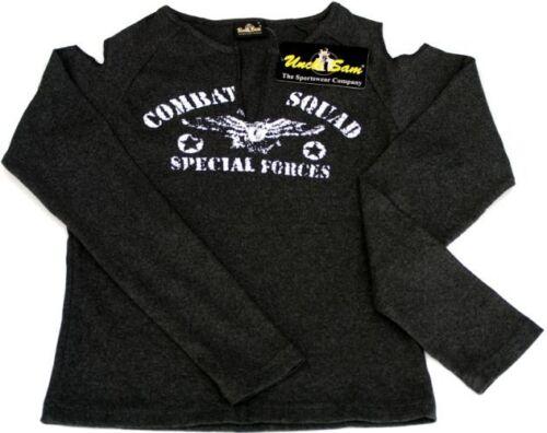 S Uncle Sam Damen Stretch Sport Shirt Force Hell Grau Gr