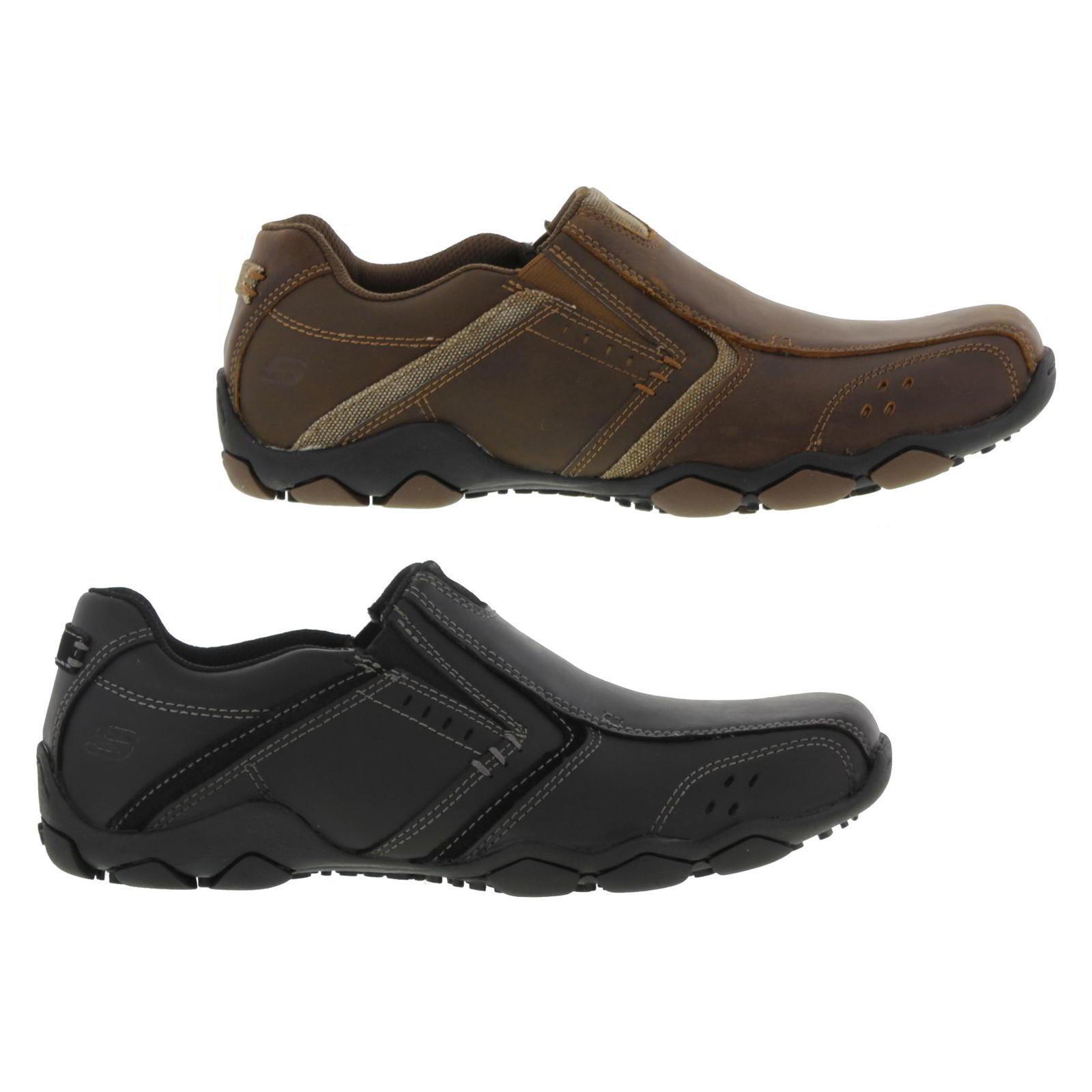Skechers Diameter Valen para hombres Cuero Memory Foam Resbalón en Zapatos Talla Uk 8-12