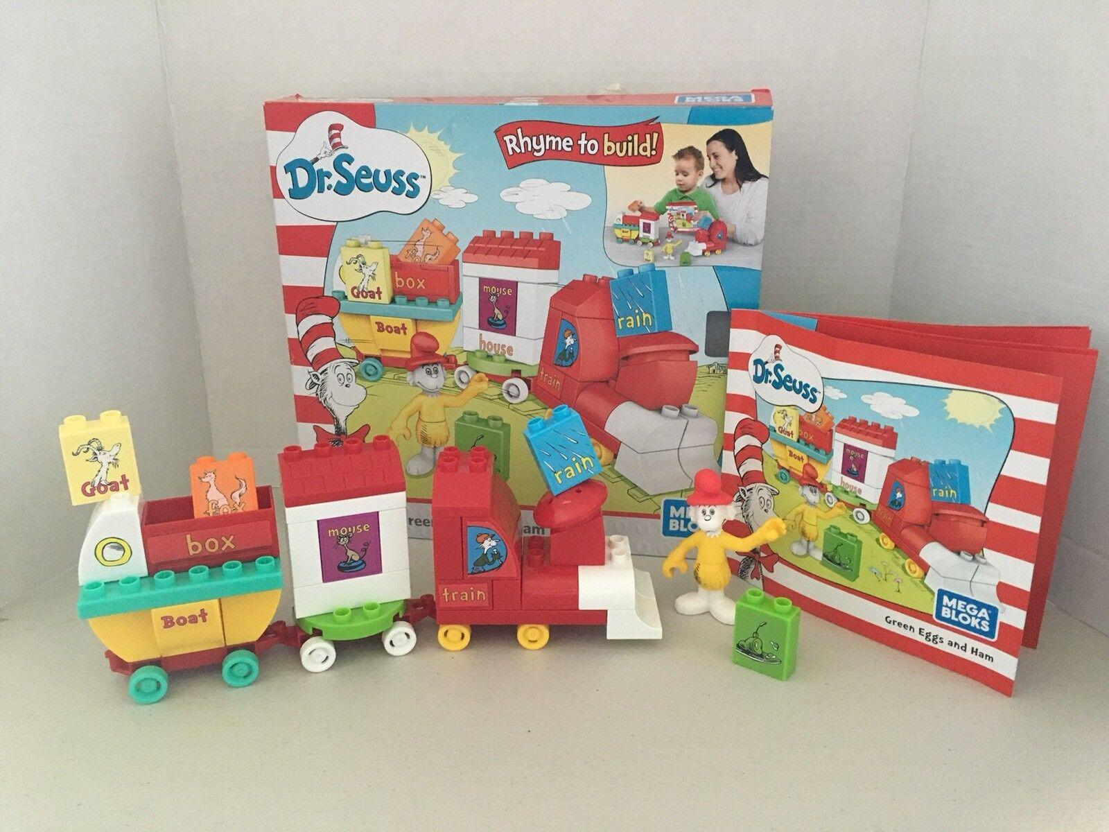 Dr. Seuss Mega Bloks Green Eggs And Ham Train Preschool Rhyming Educational