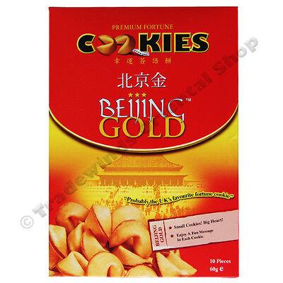 4 X BEIJING GOLD PREMIUM FORTUNE COOKIES - 10 COOKIES