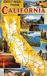 California-California-State-Map-1960-Postcard