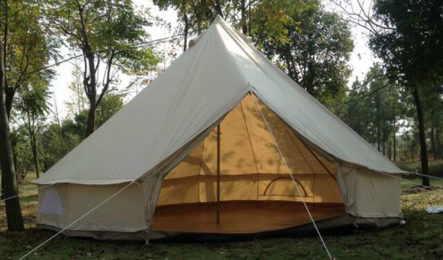 3M/10ft Diameter Canvas Bell Tent Beige Famliy C&ing Bell Tent with Chimney & Bell tent collection on eBay!