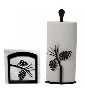 Napkin-Holder-and-Paper-Towel-holder-set-with-the-Pine-Cone-design-NEW