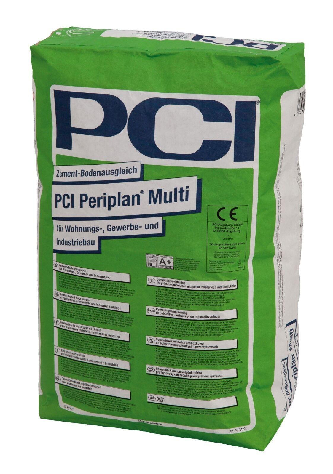 PCI Periplan Multi 25 kg Zement-Bodenausgleich für Wohnungsbau und Gewerbebau