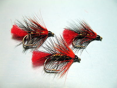 3 x HARE/'S EAR WET TROUT FLIES sizes 10 12,14,16  available FROM MGT TACKLE
