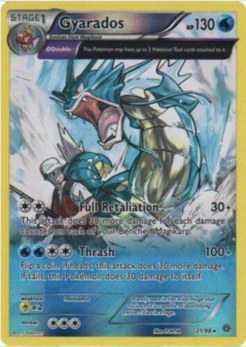 21//98 Holo Rare Pokemon XY Ancient Origins NM-M x1 Gyarados