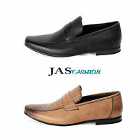 Mens Slip On Smart Shoes Italian Loafers Designer Moccasin Work Casual Size 6-11