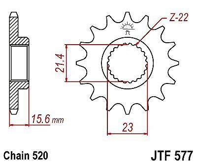JT Rubber Cushioned Front Sprocket 15 Teeth fits Yamaha TT600 R 2000
