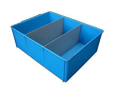 6 X Plastic Spare Parts Tray 400L x 295W x 140H Compartment Divider Storage Bin