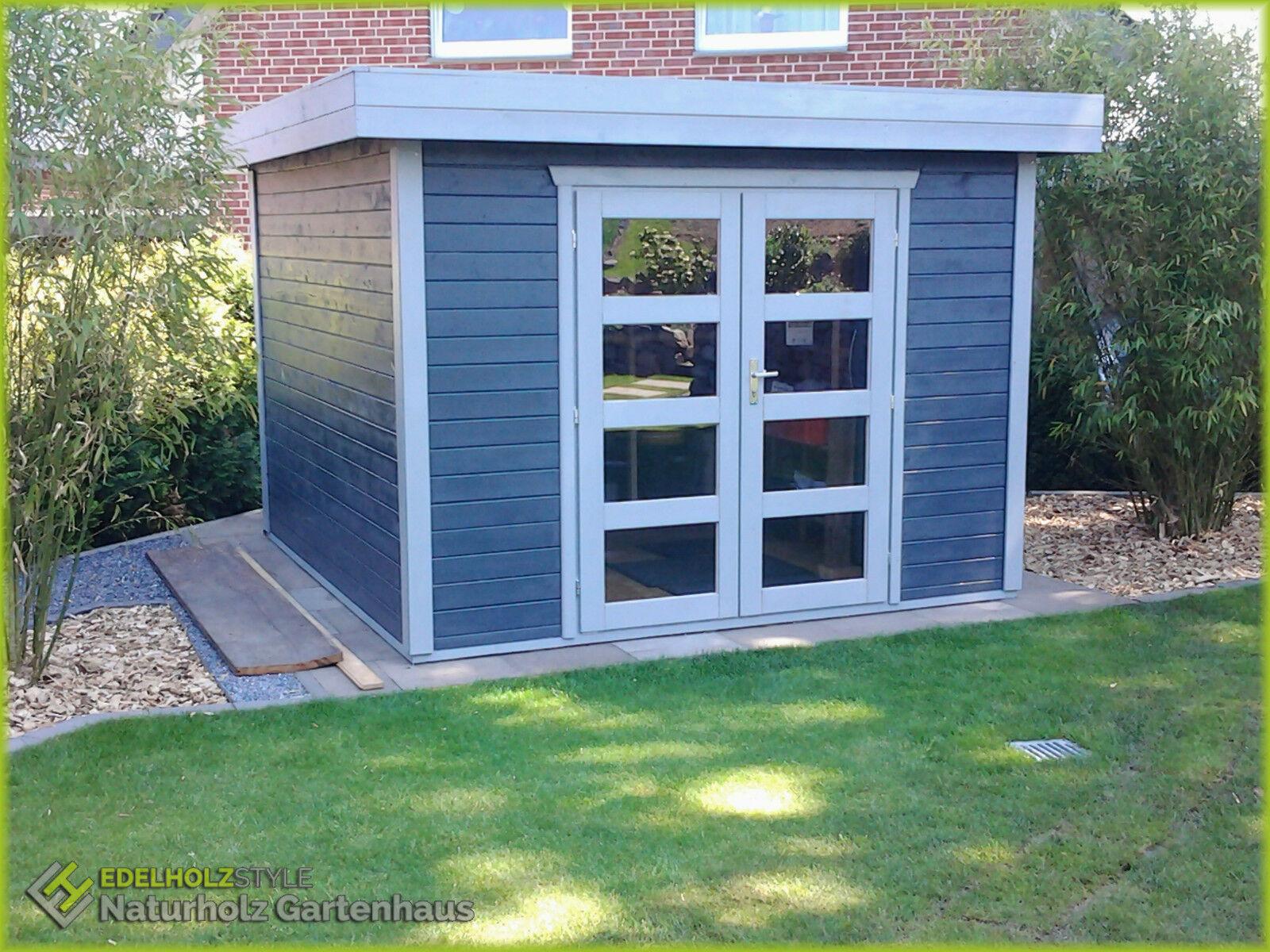 Flachdach Gartenhaus aus Holz, 3x3M, 28mm Holz, Kassel 28212OF   eBay