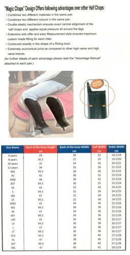 Half Chaps Reversible Tough and Soft 4 Colour/'s Combo Suede Gaiters