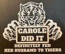 Joe Exotic Tiger King  carole baskin security Vinyl Sticker This facility