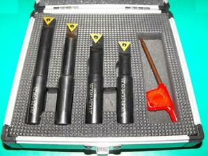 Set-of-4-1-2-034-Shank-Boring-Tools-with-indexable-insert