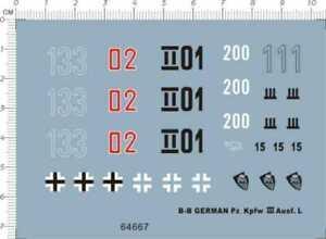 1-35-WWII-GERMAN-Pz-Kpfw-III-Ausf-L-tank-Military-Model-Kit-Water-Slide-Decal