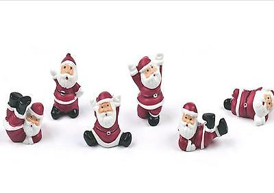 6 x FIR TREES WITH SNOW Christmas Cake Decorations yule log cupcake toppers