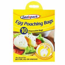 4 x Sealapack Egg Poaching Bags Pk Of 10 Total 40 Poachies Poached Poach Eggs
