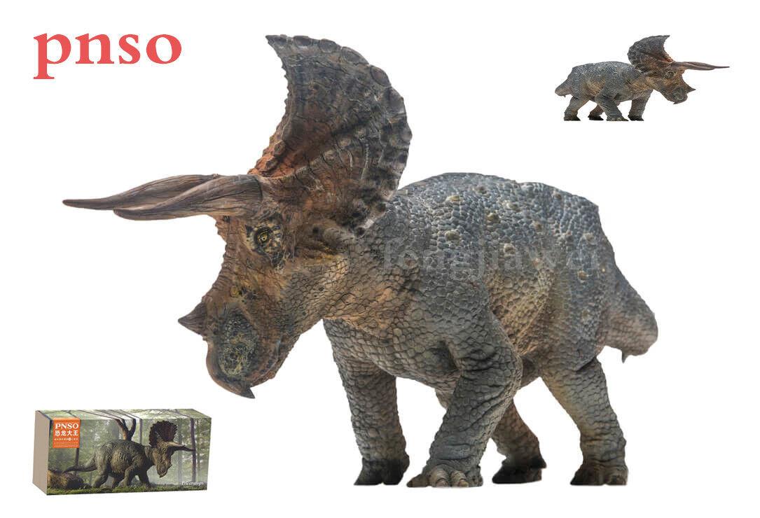 PNSO Rare Triceratops Dinosaurs Model Scientific Realistic Art Figure Decor Gift