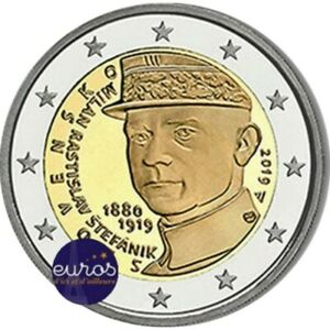 Piece-2-euros-commemorative-SLOVAQUIE-2019-Milan-Rastislav-tefanik-UNC