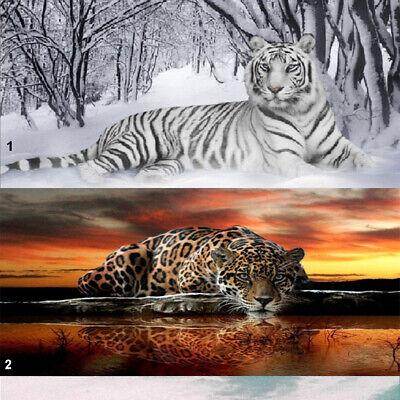 DIY Full Drill 5D Diamond Painting Cross Stitch Kits Art Mural Decor Cat Tiger