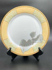 Ruby-Fine-Porcelain-leaf-Design-Multicolored-Dinner-Plates-set-Of-4