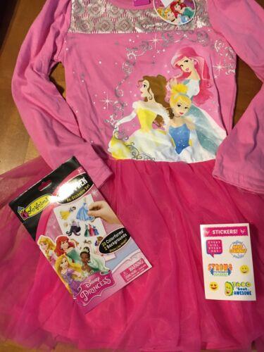 Disney Princess Girls Sz 6 Dress Nwt Cinderella Belle Ariel Justice Stickers
