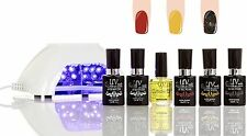 Gel Polish Starter Kit With LED Lamp V10-W-3 G5-G10-GL10 UVNAILS Salon Quality