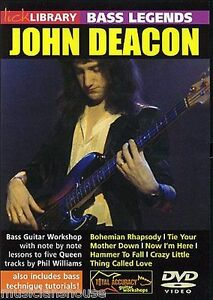 LICK-LIBRARY-Learn-Bass-Legends-JOHN-DEACON-QUEEN-BOHEMIAN-RHAPSODY-Guitar-DVD