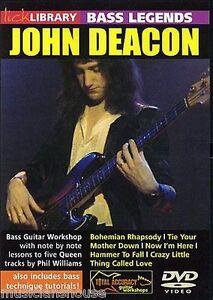 LICK-LIBRARY-Learn-Bass-Legends-JOHN-DEACON-QUEEN-BOHEMIAN-RHAPSODY-Guitar-DVD