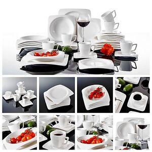 grossiste a3fd1 2f528 Détails sur 30PC complete dîner set ronde plaques tasses céramique  vaisselle cuisine ensemble de salle à manger- afficher le titre d'origine