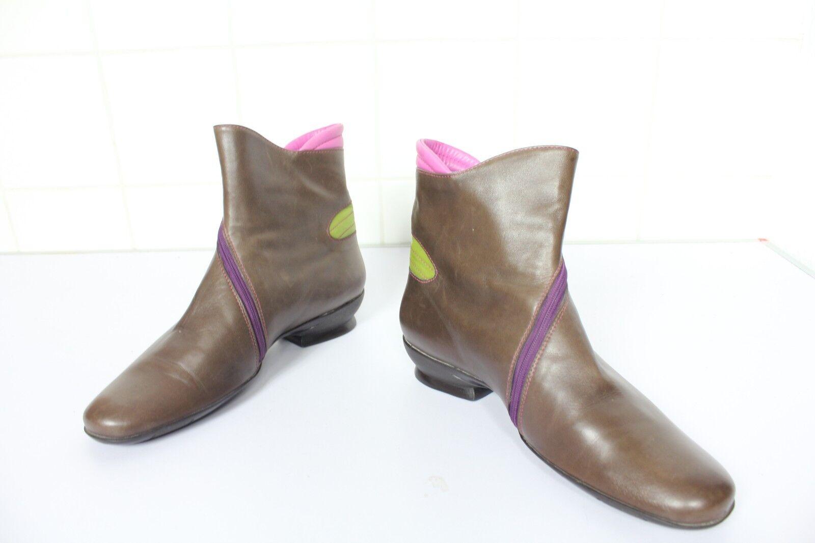 Everybody Elegante Stiefeletten Boots Echtleder Mehrfarbig Eu 40 made in