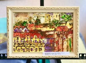 original-tempera-on-canvas-painting-impressionism-style-art-framed