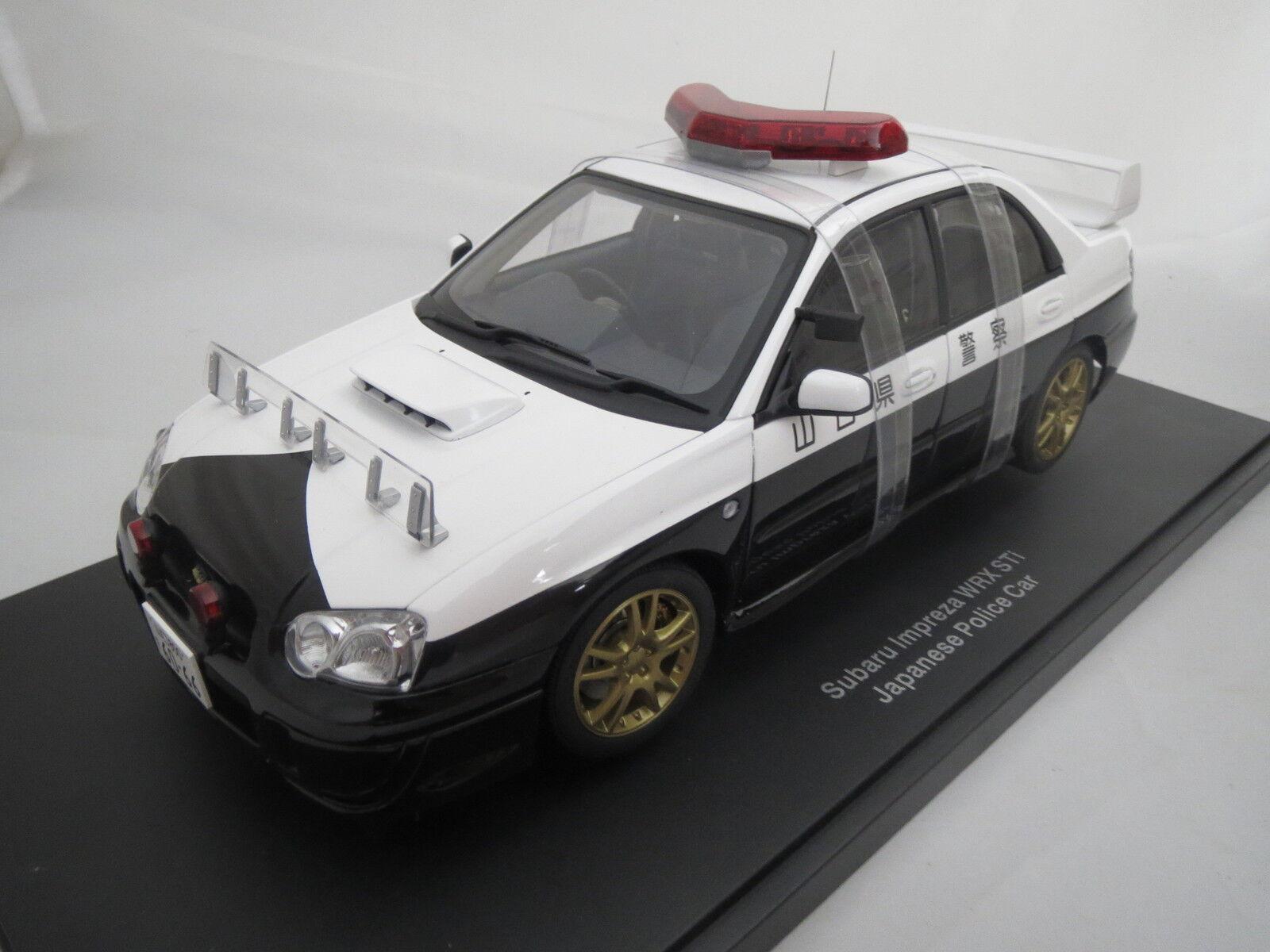 AUTOart 78656 subaru impreza wrx sti Japanese police car 1 18 top & OVP