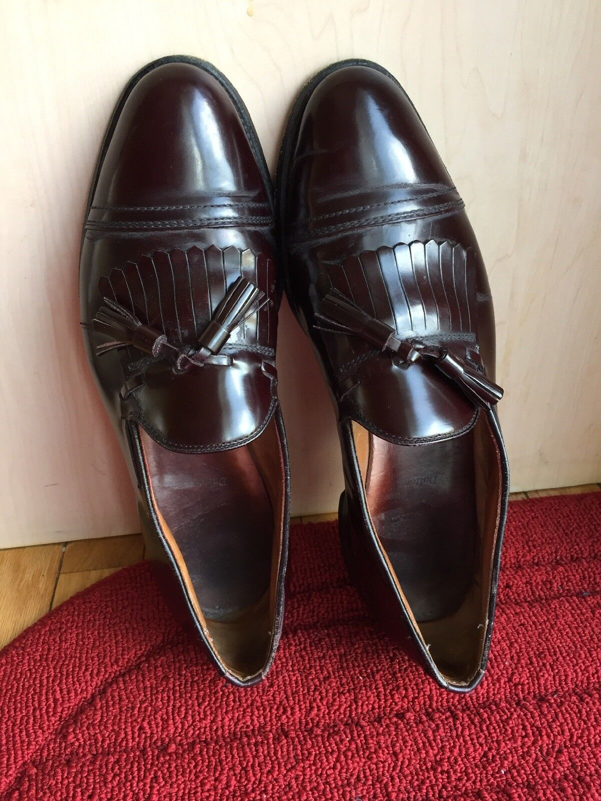 Allen Edmonds Dalton Sz 11.5 Tassel C Men's Burgundy Leather Tassel 11.5 Slip On Shoes EUC f07d08