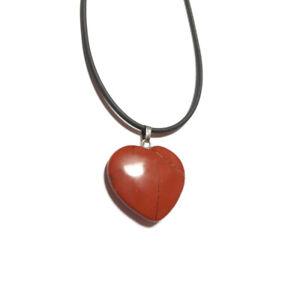 Collar-Colgante-de-Mujer-corazon-Jaspe-rojo-Rodado-Natural-2-5-cm-envio-desde-Es