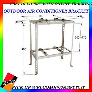 Outdoor air conditioner bracket ground double rack anti for Ground air conditioner