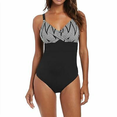 Fantasie Montreal Underwired Twist Front Swimsuit UK 42G Ocean FS5436BLK s4s8p