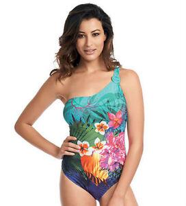Fantasie Dominica Asymmetric Swimsuit Swimming Costume 5966 Tropical