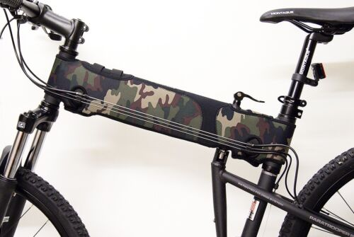 Montague Bikes Protective Neoprene Frame Cover for MTB Green Camo Pattern