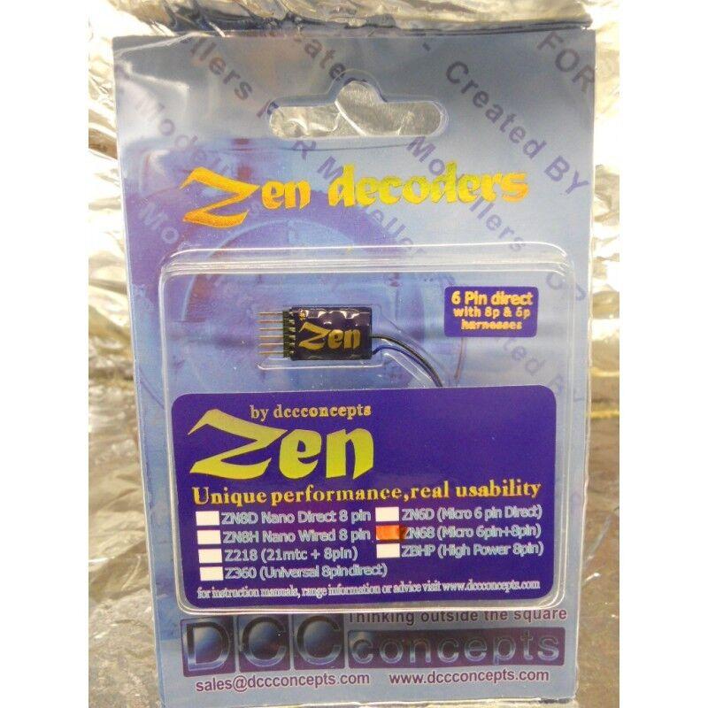 DCC Concepts DCD-ZN68 ZEN 6 PIN VERSATILE 2 Function Decoder w Stay Alive