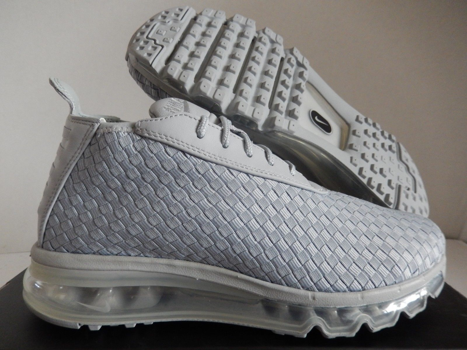 NIKE AIR MAX WOVEN BOOT 2018 WOLF GREY-WOLF GREY-WHITE 921854-001 Sz 6.5