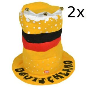 2x-Dancing-Germany-Fan-Hut-World-Cup-Germany-Hat-Deutschlandmutze-Fan-Hat