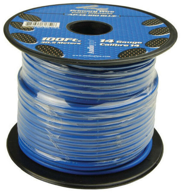 Audiopipe 14 Gauge 100ft Primary Wire Blue   eBay