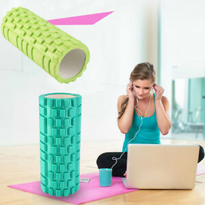 *34x14cm Pilates Fitness EVA Foam Roller Massage Convex Point Therapy Yoga StiBR